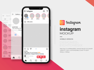 Instagram Mock-Up Template PSD